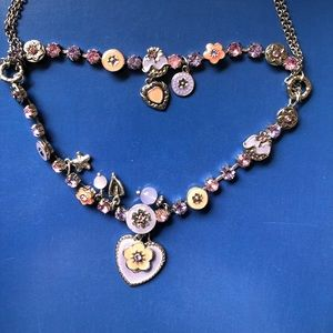 Child y2k charm colourful necklace